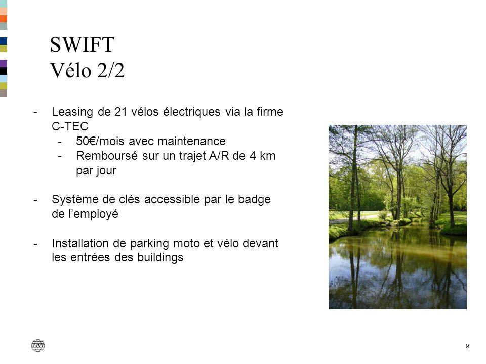 SWIFT Vélo 2/2 Leasing de 21 vélos électriques via la firme C-TEC