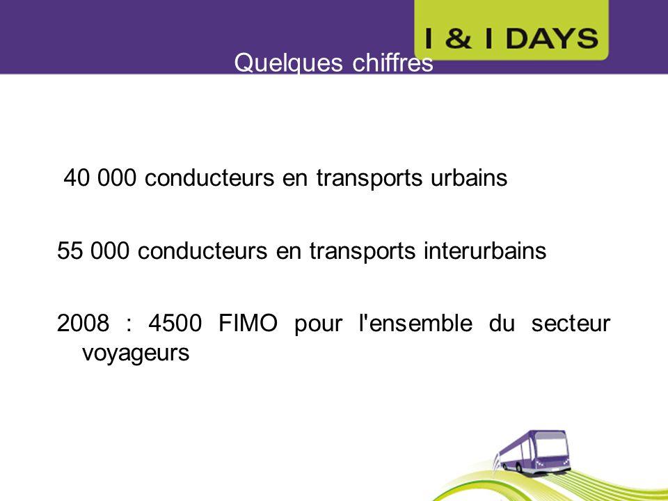 Quelques chiffres 40 000 conducteurs en transports urbains