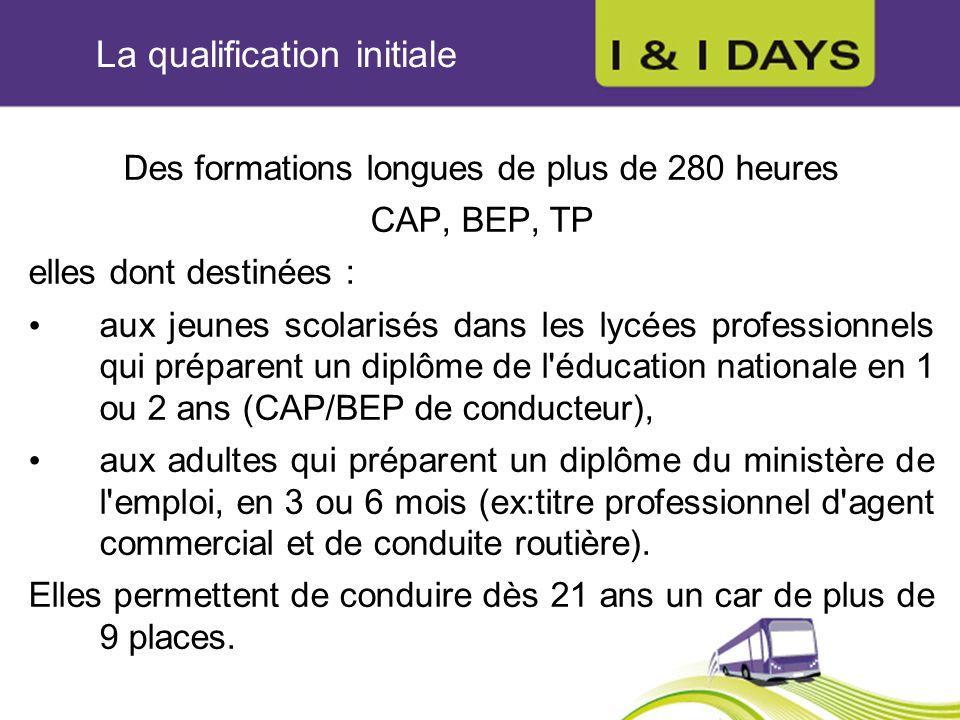 La qualification initiale