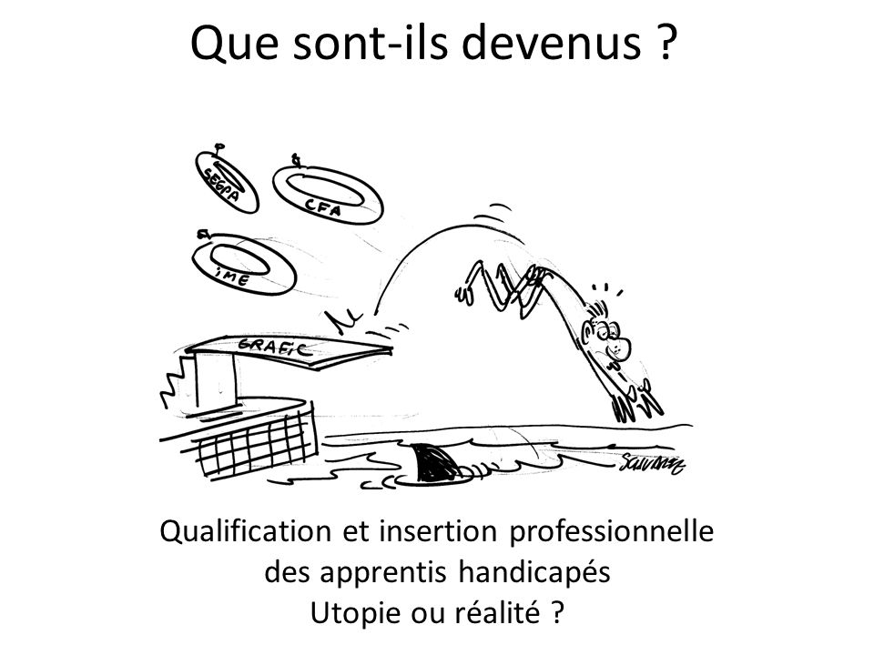 Que sont-ils devenus Qualification et insertion professionnelle