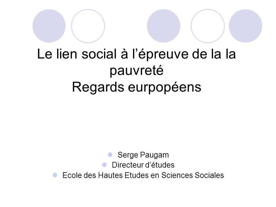 Le lien social à l'épreuve de la la pauvreté Regards eurpopéens