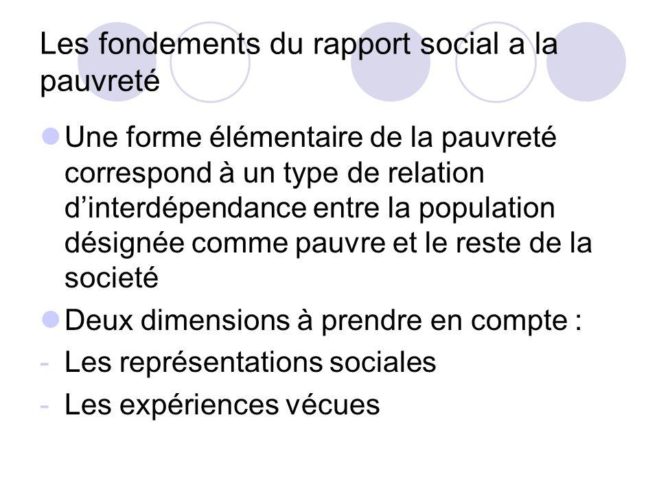 Les fondements du rapport social a la pauvreté