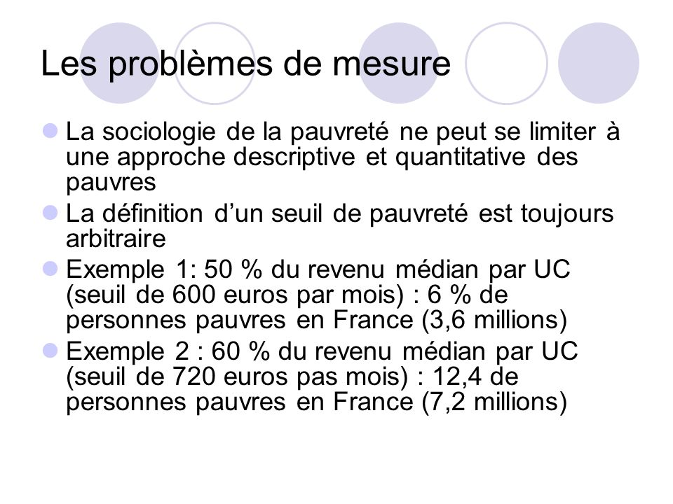 Les problèmes de mesure