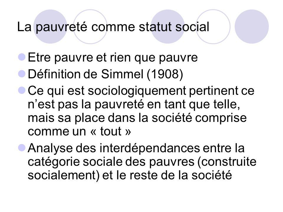 La pauvreté comme statut social