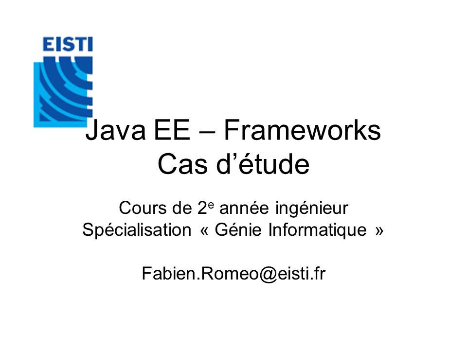 Java EE – Frameworks Cas d'étude