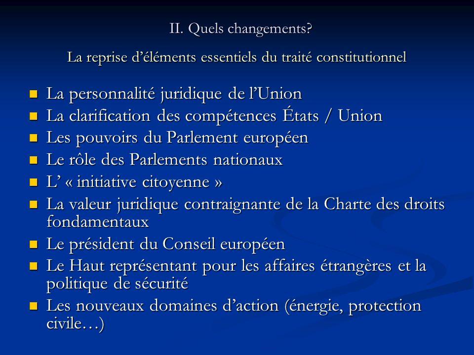 La personnalité juridique de l'Union