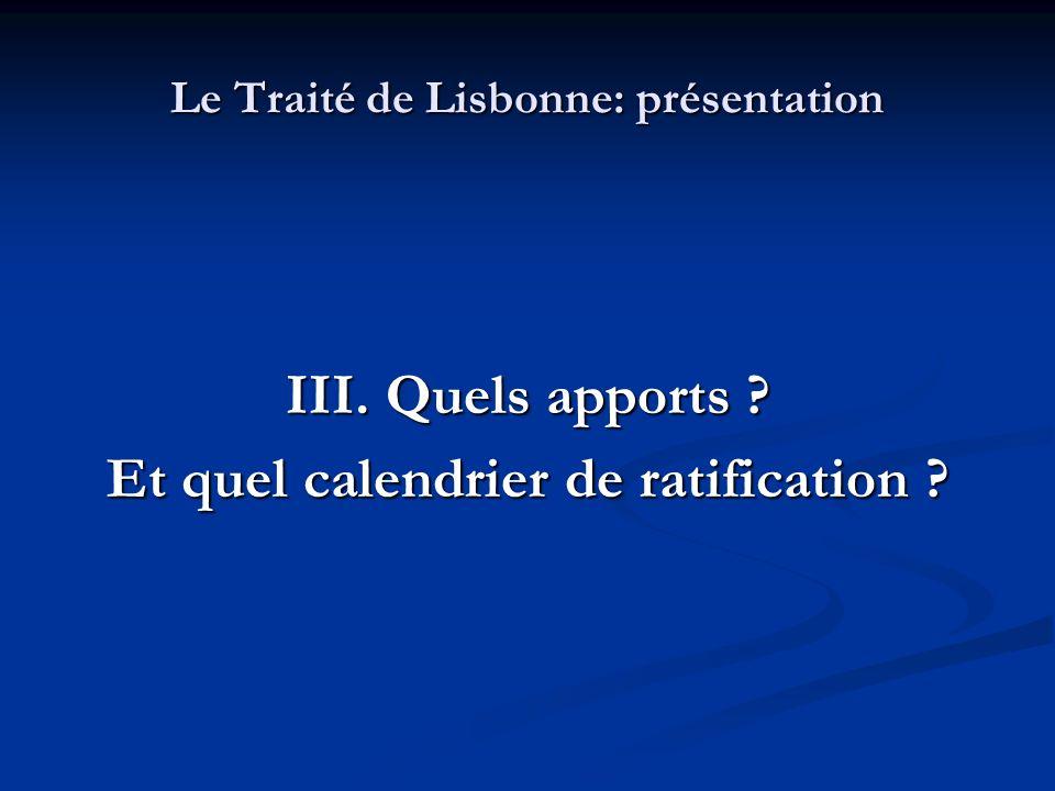 Le Traité de Lisbonne: présentation
