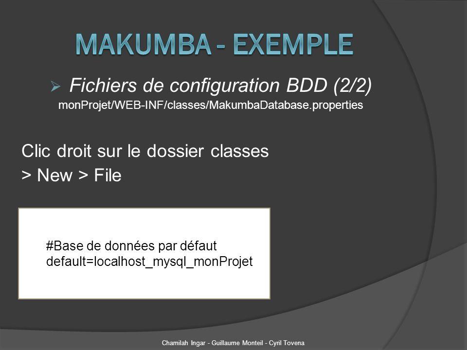 Makumba - Exemple Fichiers de configuration BDD (2/2)