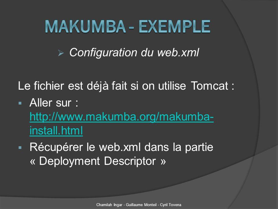 Makumba - Exemple Configuration du web.xml