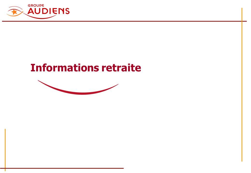 Informations retraite