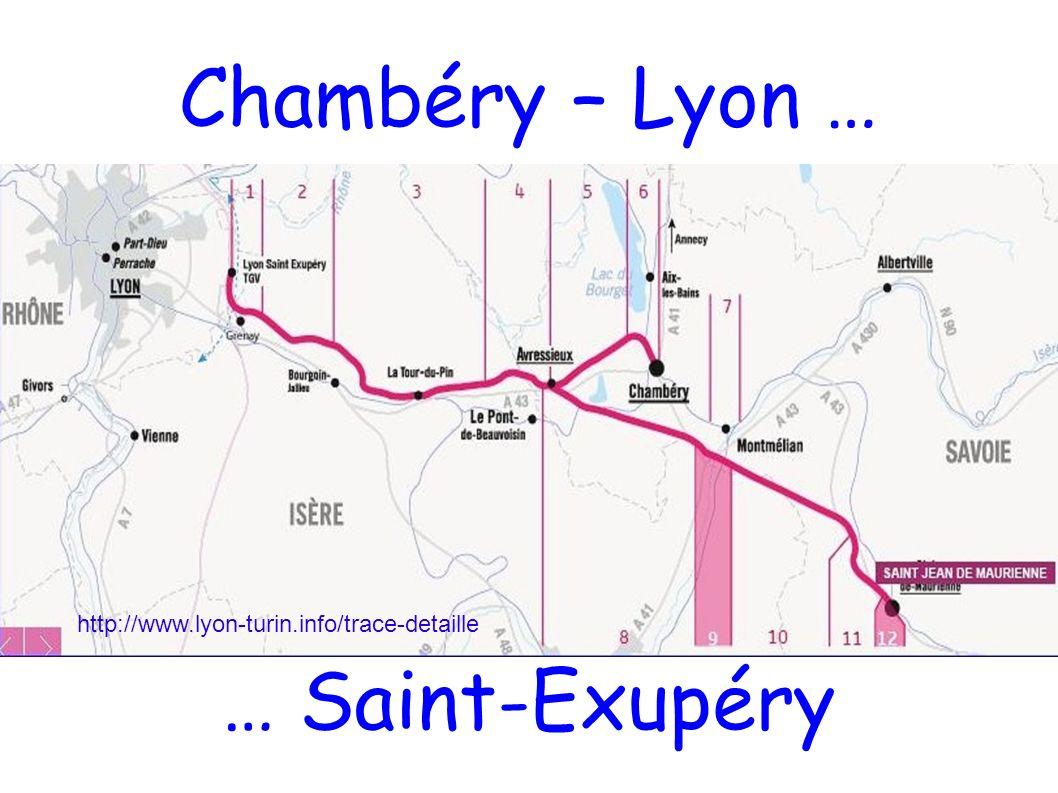 Chambéry – Lyon … … Saint-Exupéry