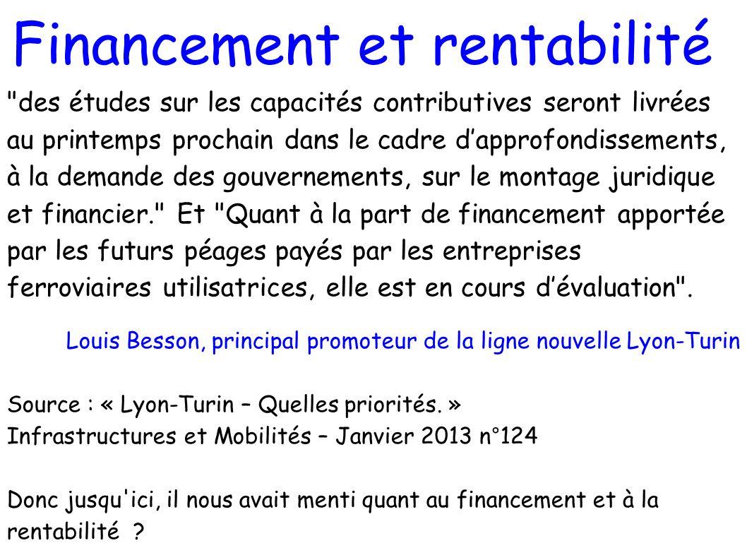 Financement et rentabilité