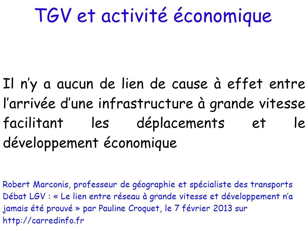 TGV et activité économique