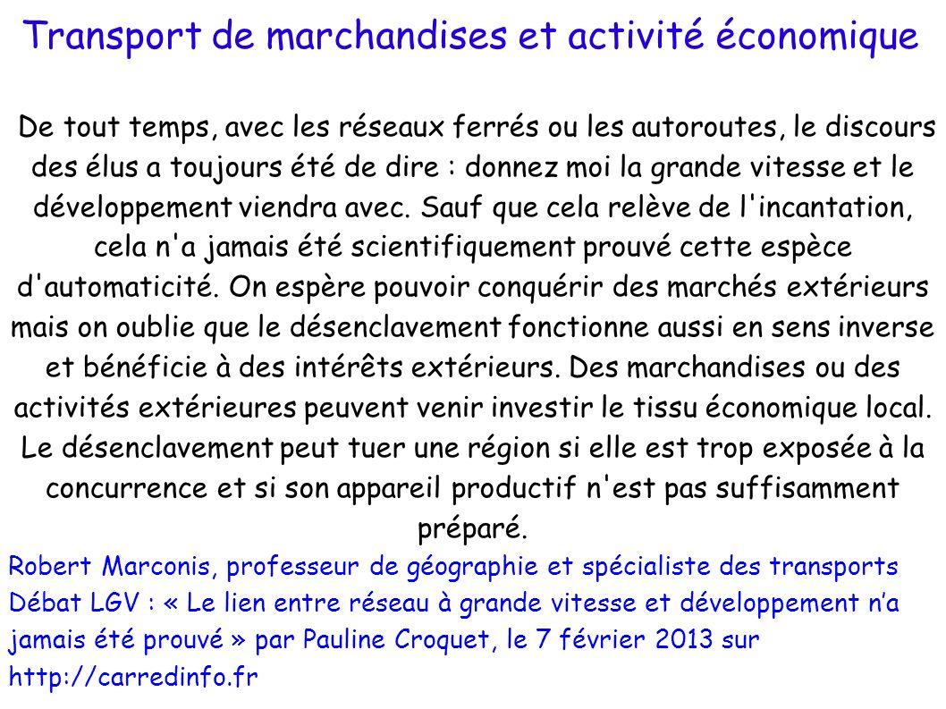 Transport de marchandises et activité économique