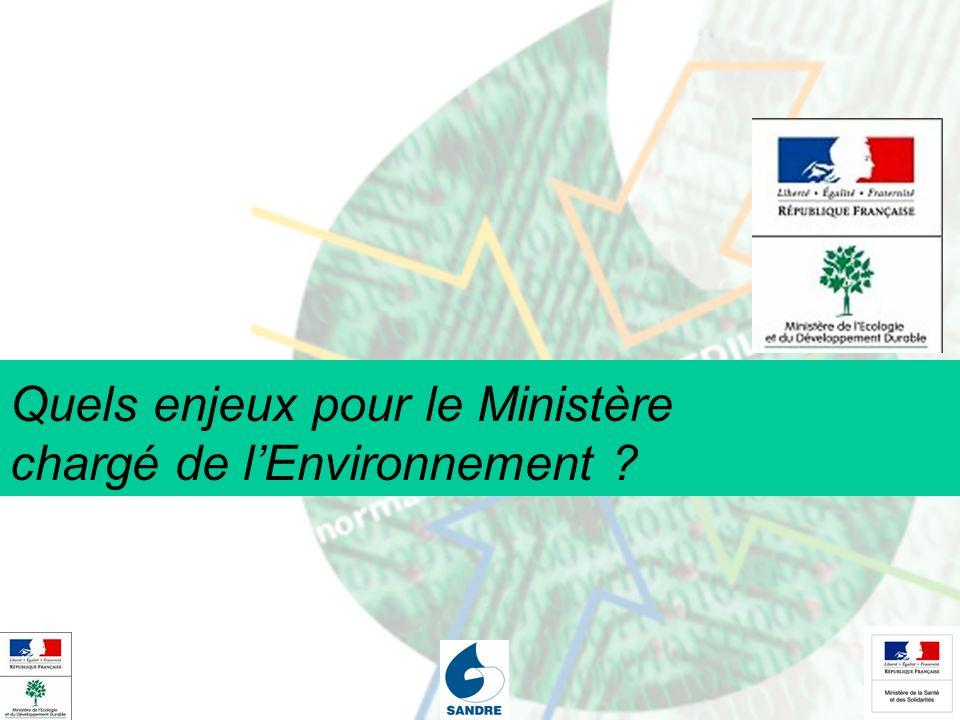 Quels enjeux pour le Ministère chargé de l'Environnement