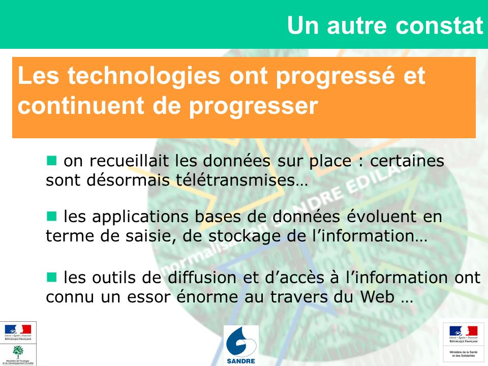 Les technologies ont progressé et continuent de progresser