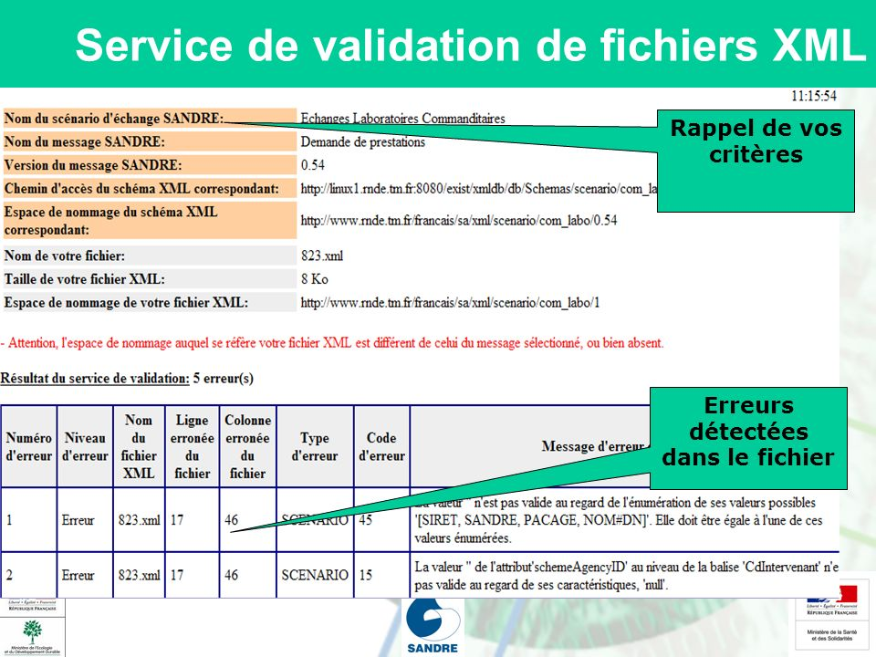 Service de validation de fichiers XML