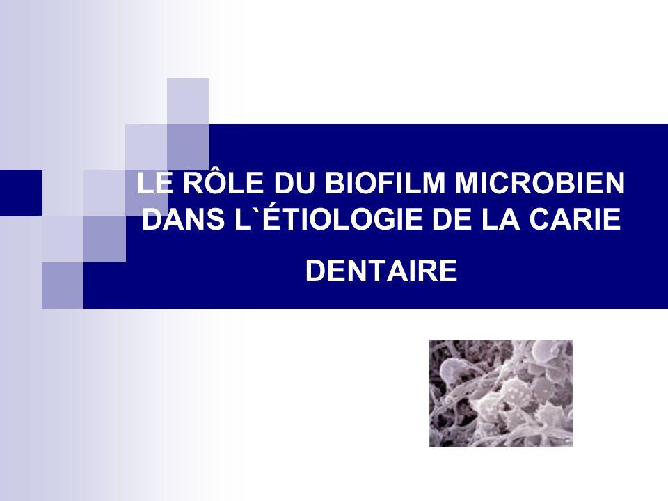 LE RÔLE DU BIOFILM MICROBIEN DANS L`ÉTIOLOGIE DE LA CARIE DENTAIRE