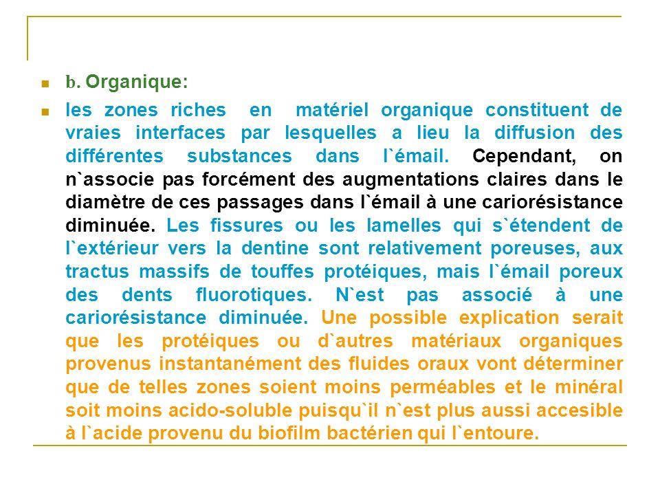 b. Organique: