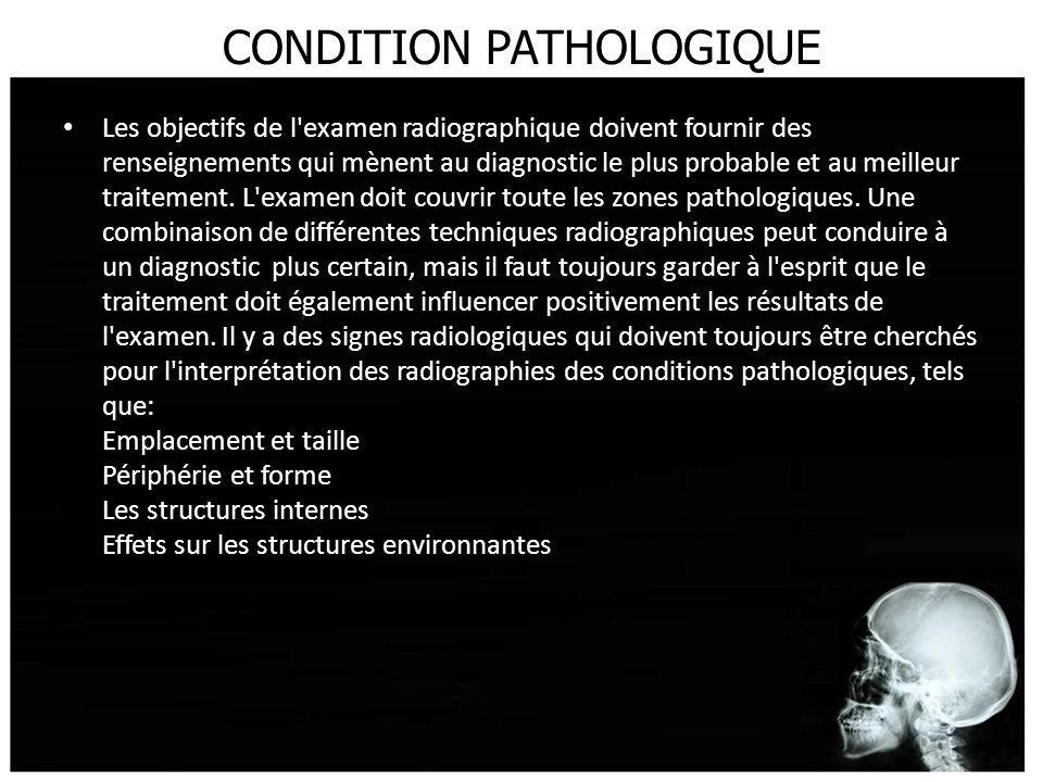 CONDITION PATHOLOGIQUE