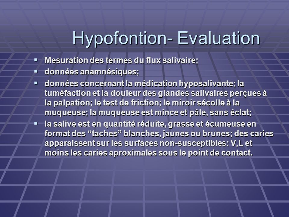 Hypofontion- Evaluation