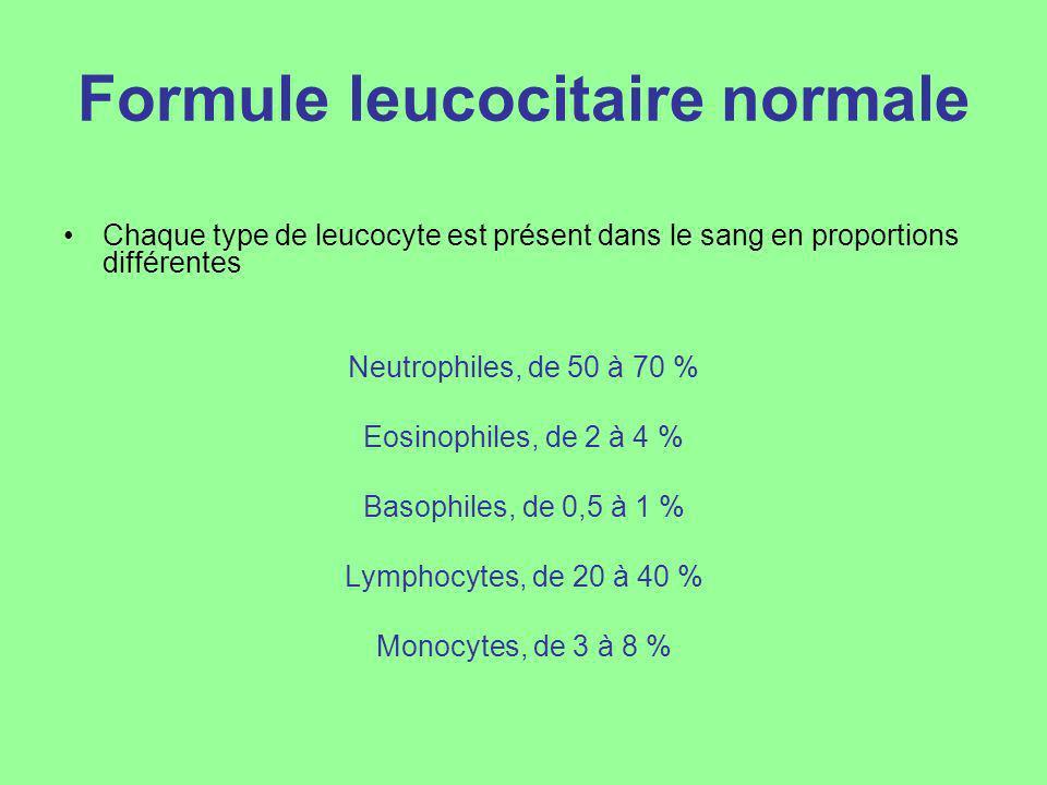 Formule leucocitaire normale
