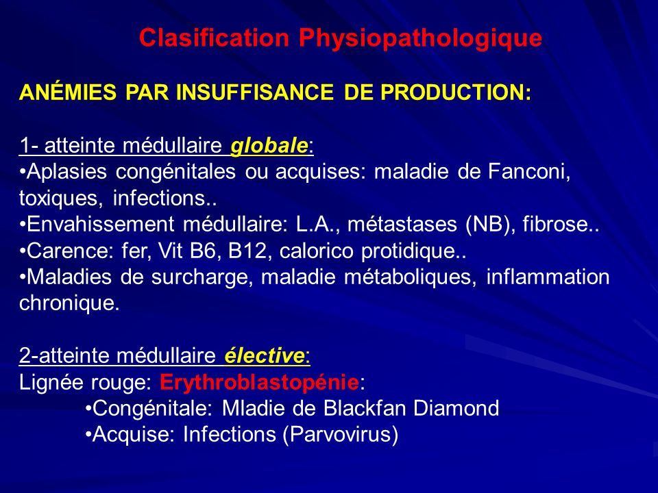 Clasification Physiopathologique