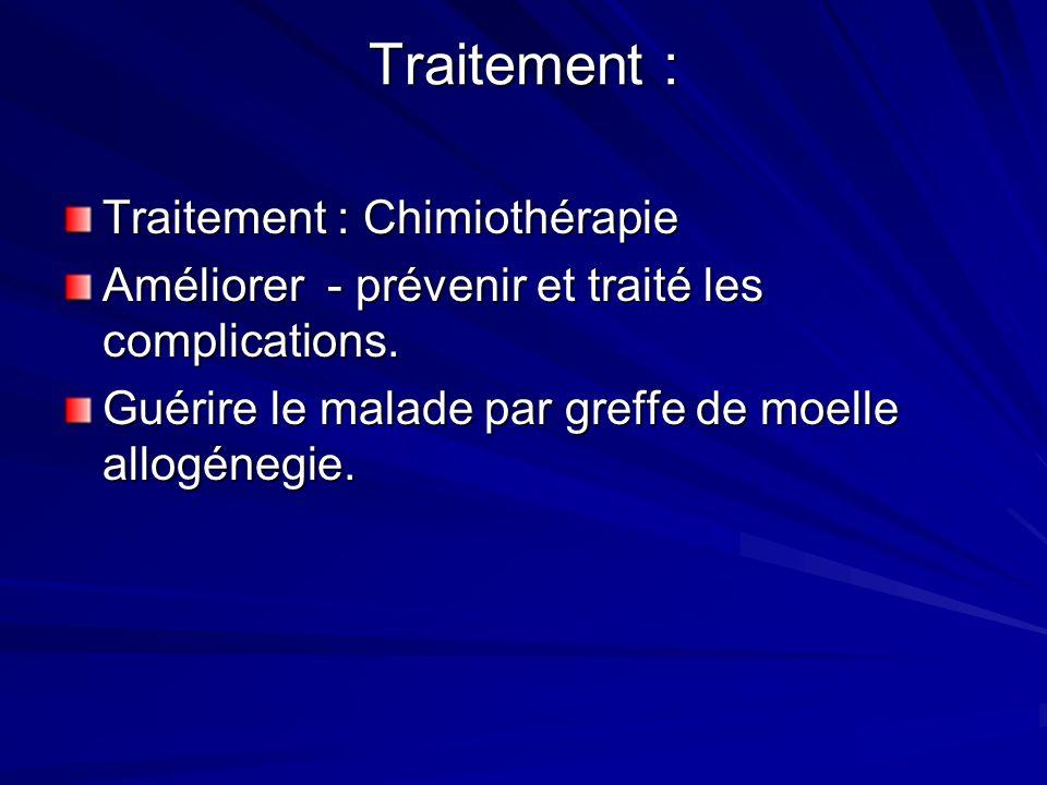 Traitement : Traitement : Chimiothérapie