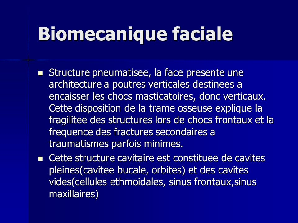 Biomecanique faciale