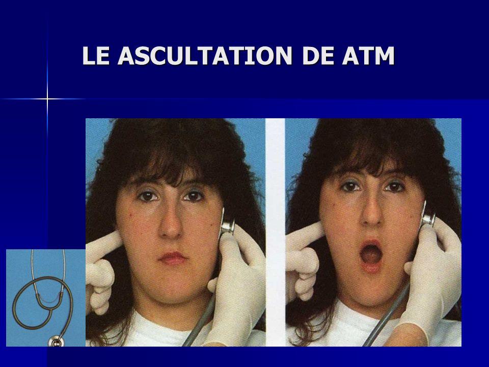 LE ASCULTATION DE ATM