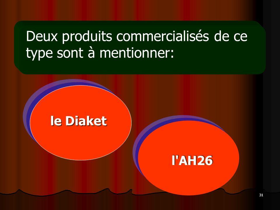 Deux produits commercialisés de ce type sont à mentionner: