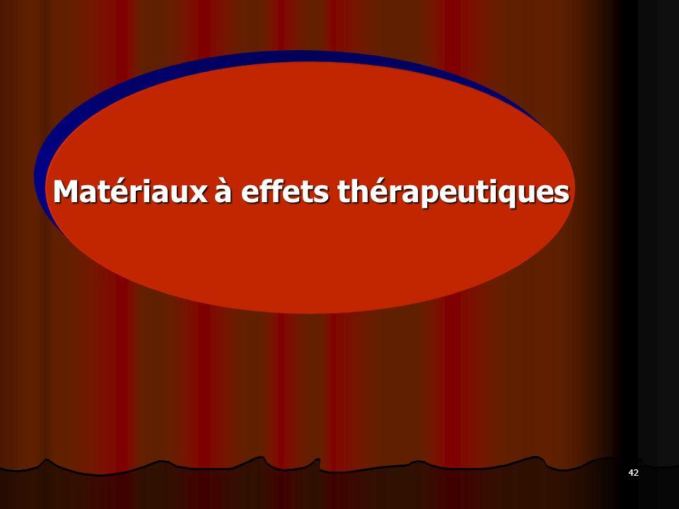 Matériaux à effets thérapeutiques