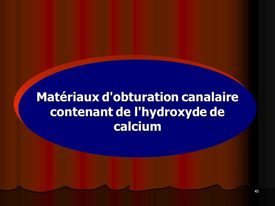 Matériaux d obturation canalaire contenant de l hydroxyde de calcium