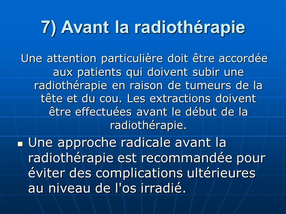 7) Avant la radiothérapie