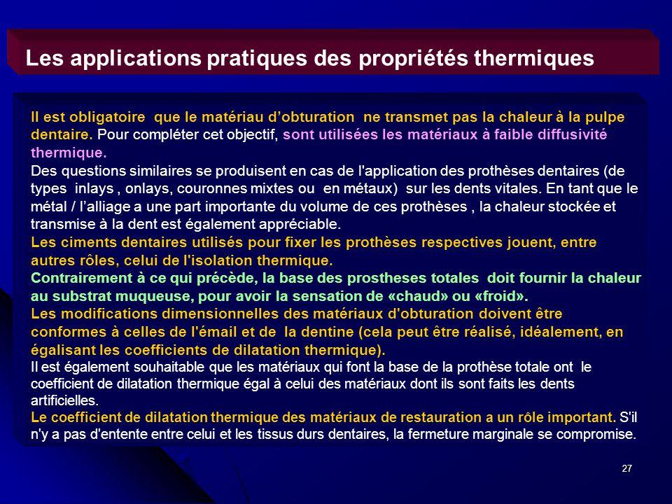 Les applications pratiques des propriétés thermiques