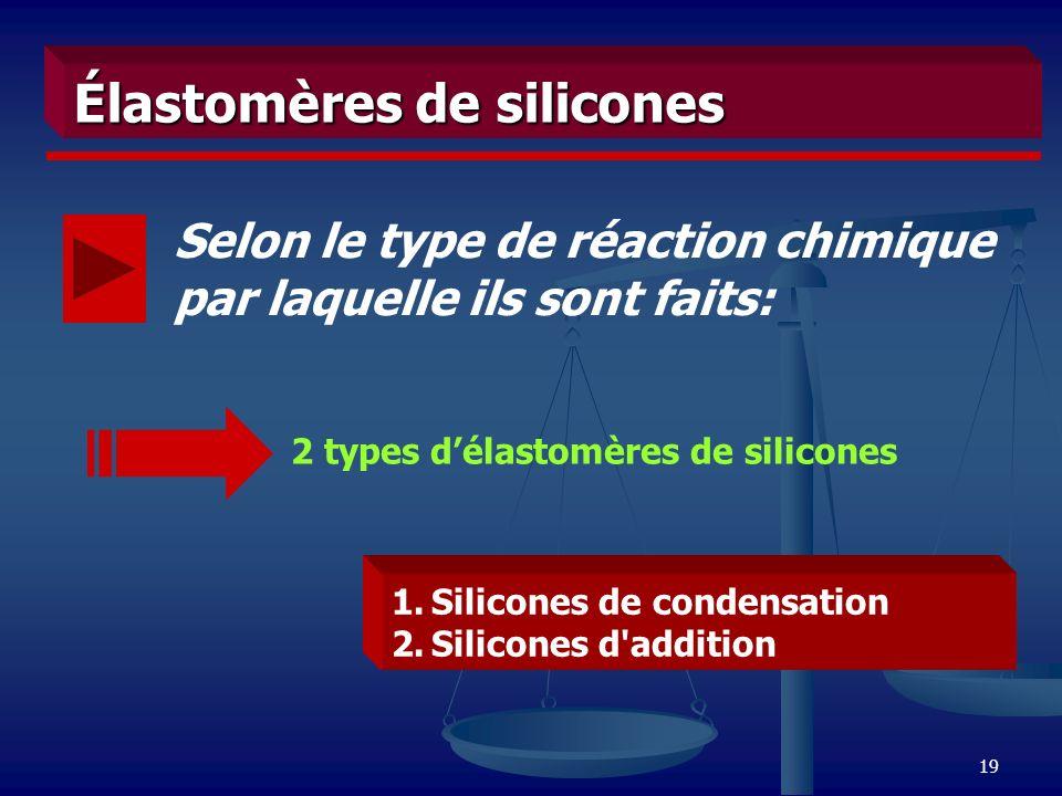 Élastomères de silicones