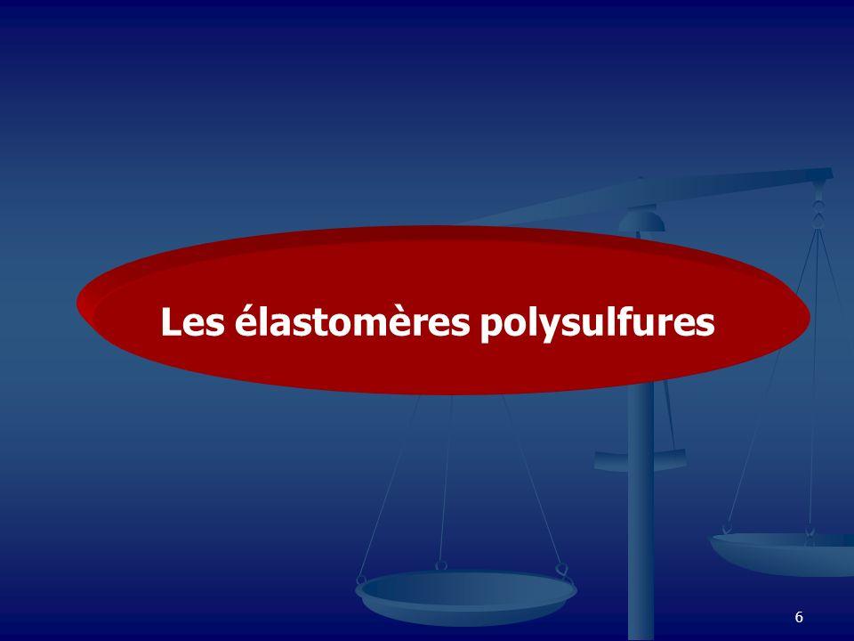 Les élastomères polysulfures