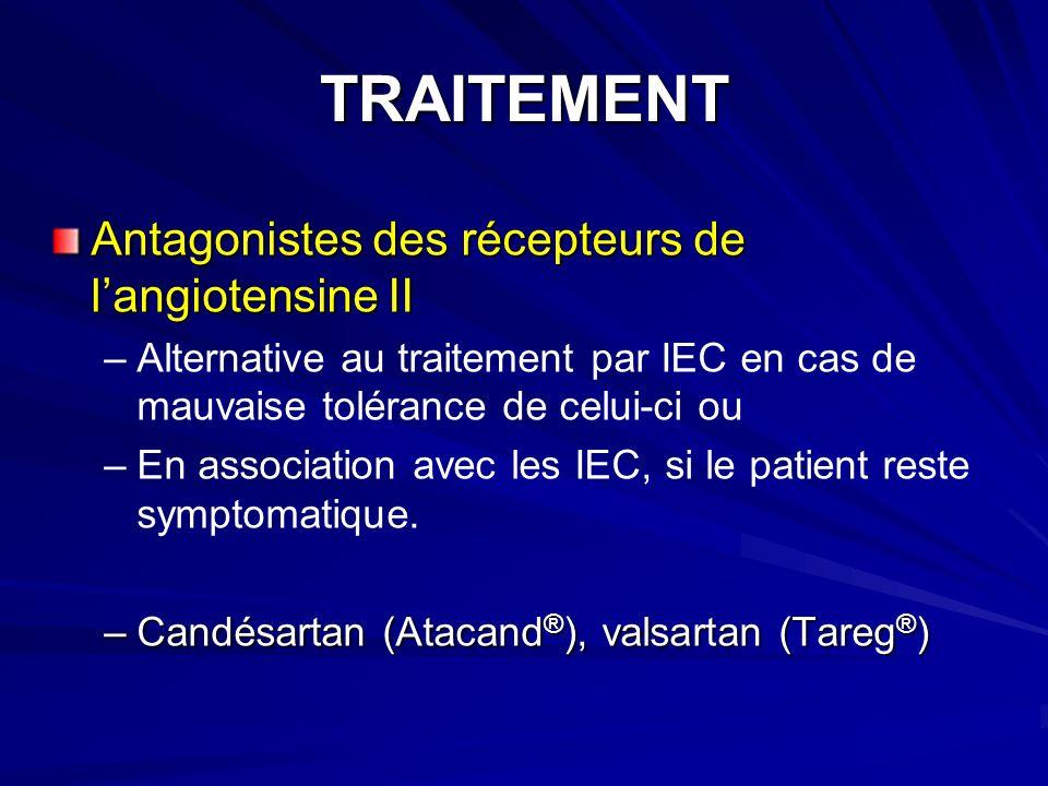 TRAITEMENT Antagonistes des récepteurs de l'angiotensine II