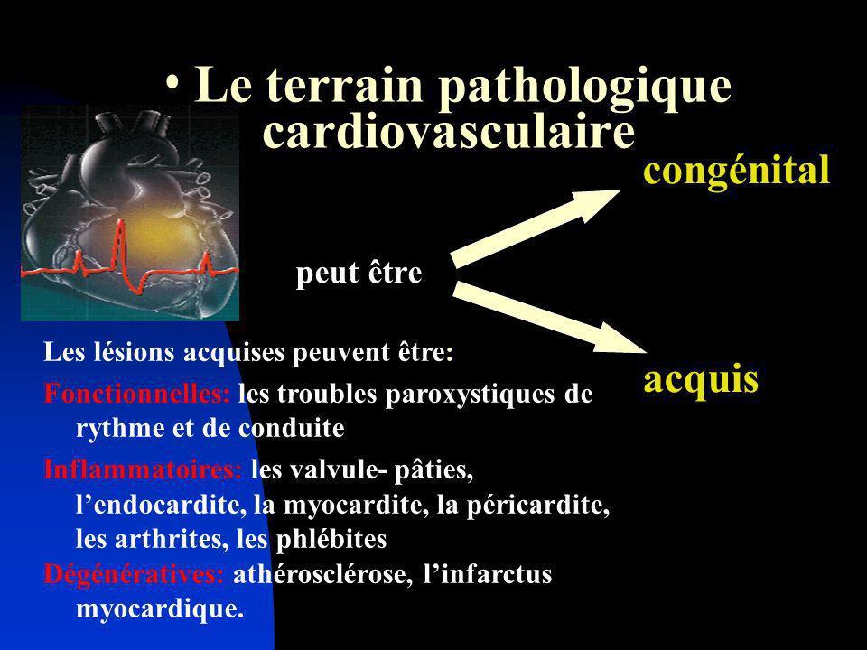Le terrain pathologique cardiovasculaire