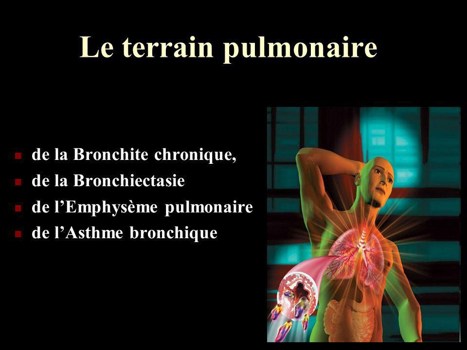 Le terrain pulmonaire de la Bronchite chronique, de la Bronchiectasie