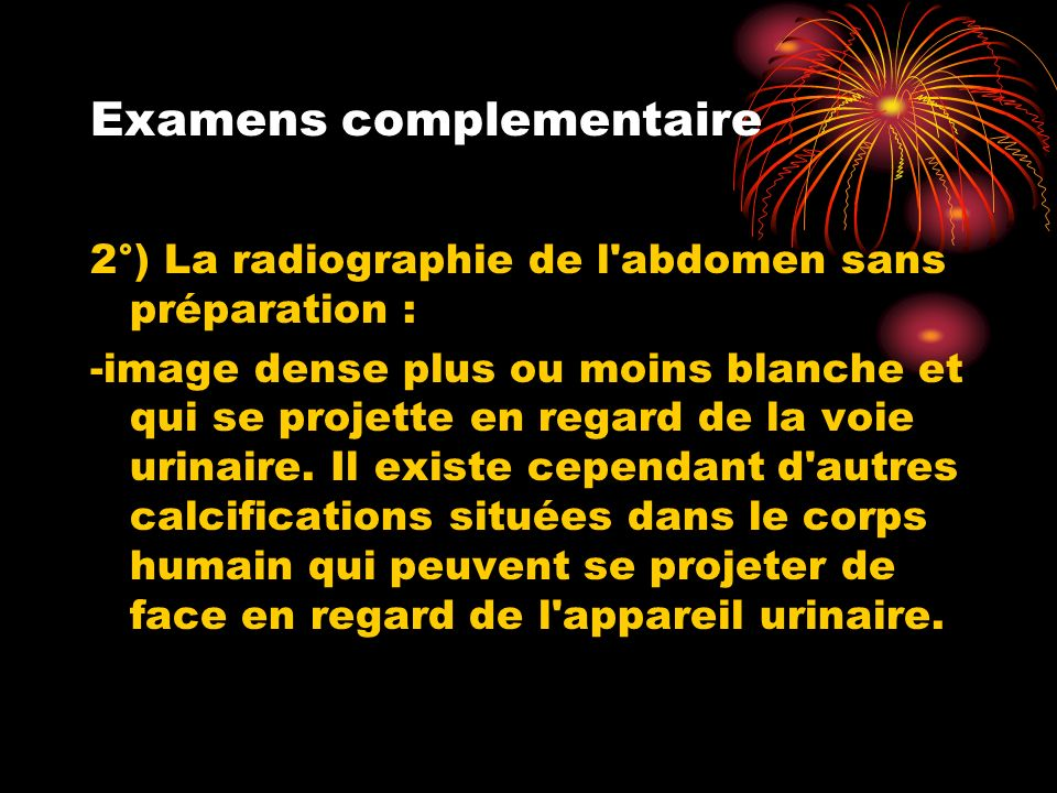 Examens complementaire