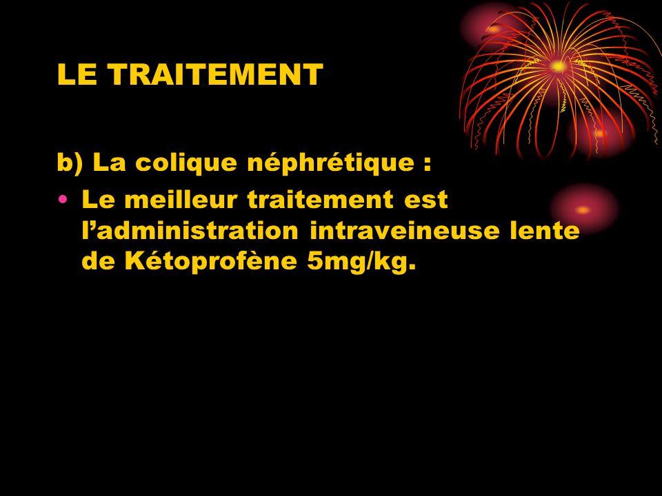 LE TRAITEMENT b) La colique néphrétique :