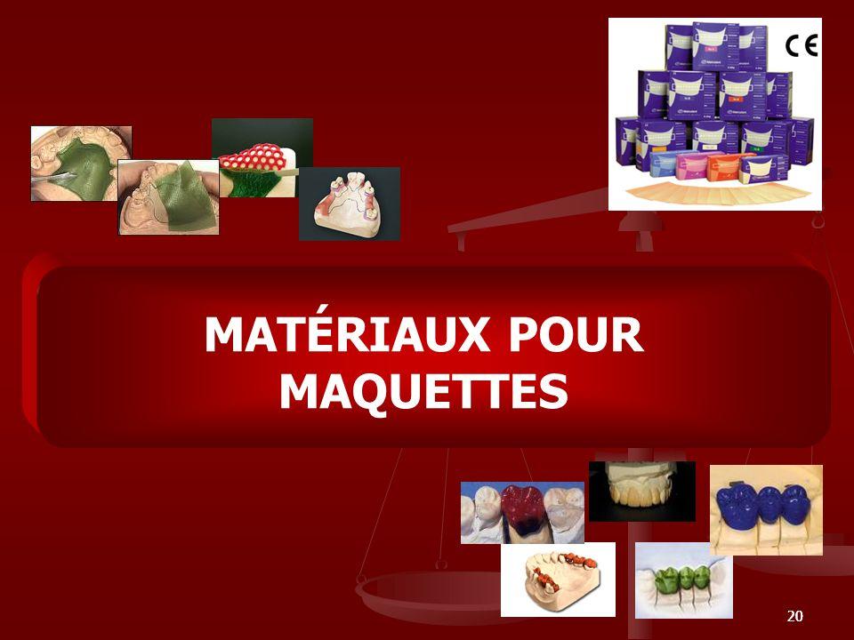 MATÉRIAUX POUR MAQUETTES
