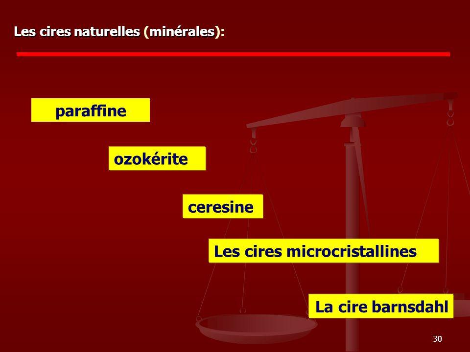 Les cires microcristallines