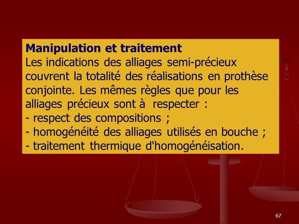 Manipulation et traitement