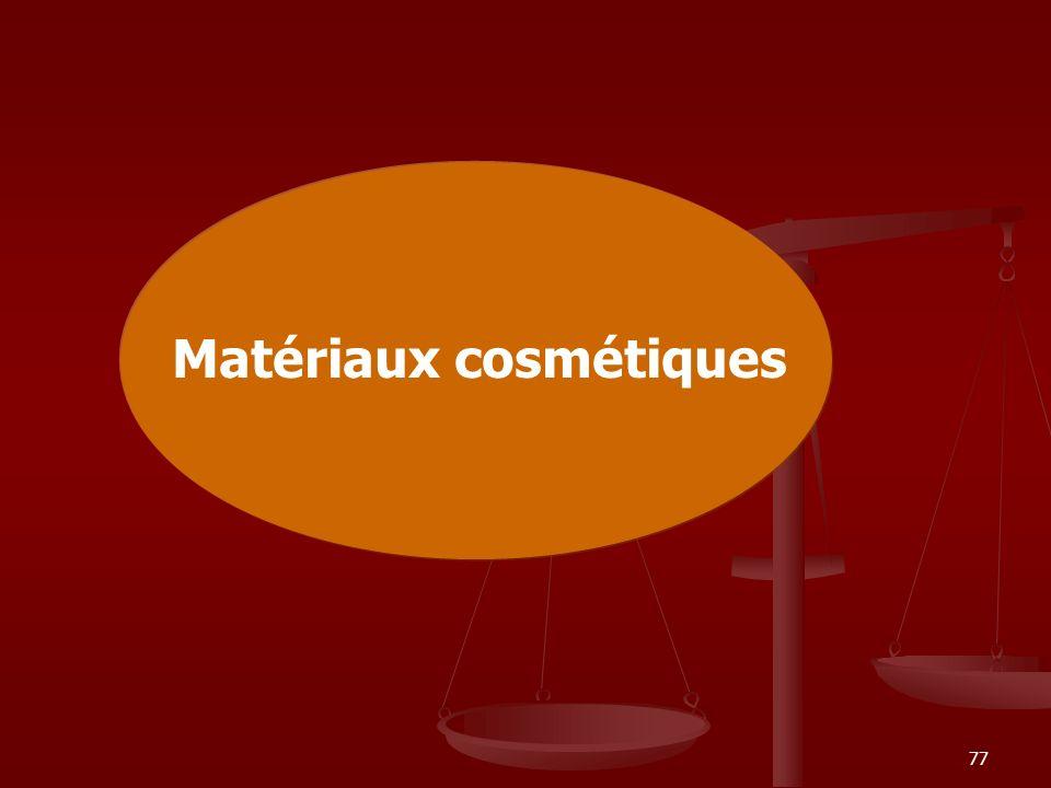 Matériaux cosmétiques
