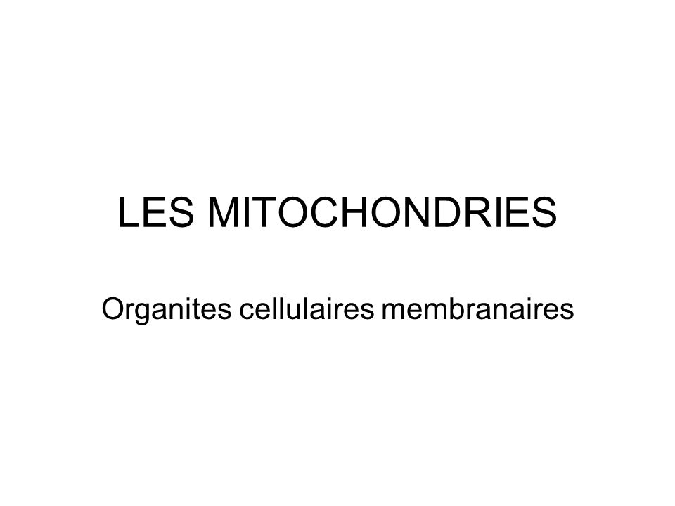 Organites cellulaires membranaires