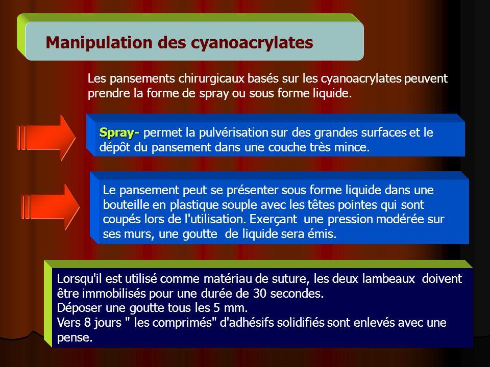 Manipulation des cyanoacrylates