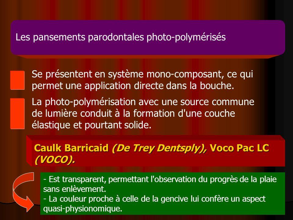 Les pansements parodontales photo-polymérisés