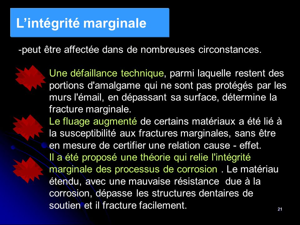 L'intégrité marginale